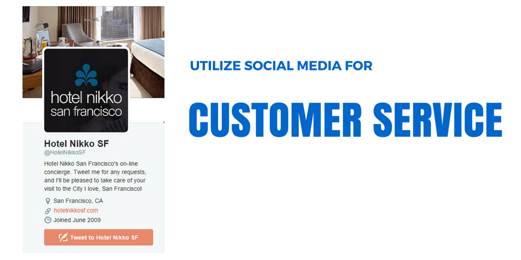 Use social media for customer service