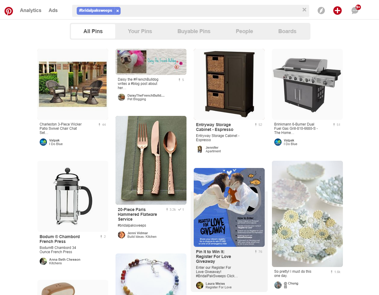 Pinterest contests generate sales