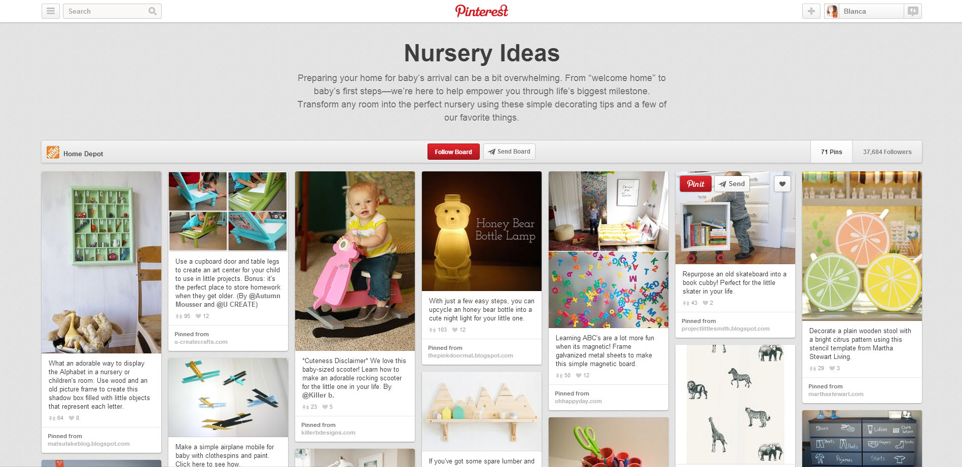 nursery pinterest board