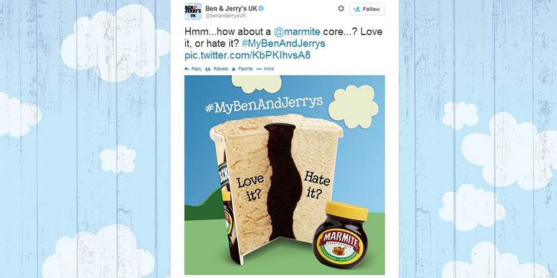 Ben and Jerry's Promoted Tweet uses