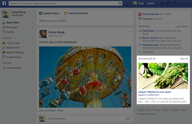 Facebook to increase ad sizing
