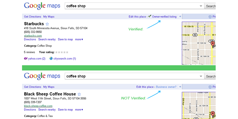 The first step to setting up your single descriptors is to verify your business' Google Listing