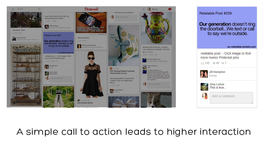 Add a call to action for best pinterest results