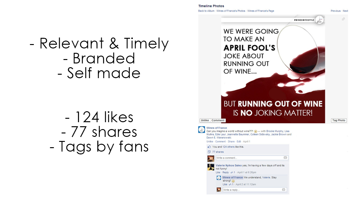 What an effective Facebook post looks like
