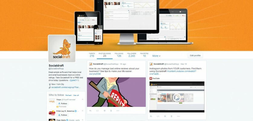Twitter's update shows images and videos in a pinterest type layout