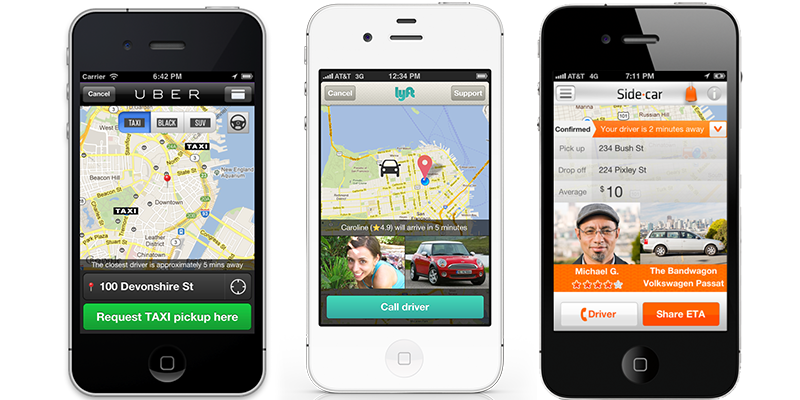 taxi companies with their own mobile applications get higher revenues