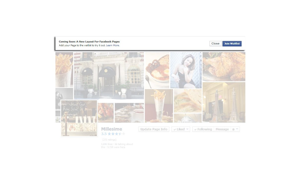 How to join the waitlist to switch to the new Facebook Layout