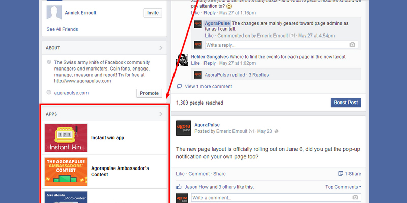 Apps tabs are still present on Facebook Page