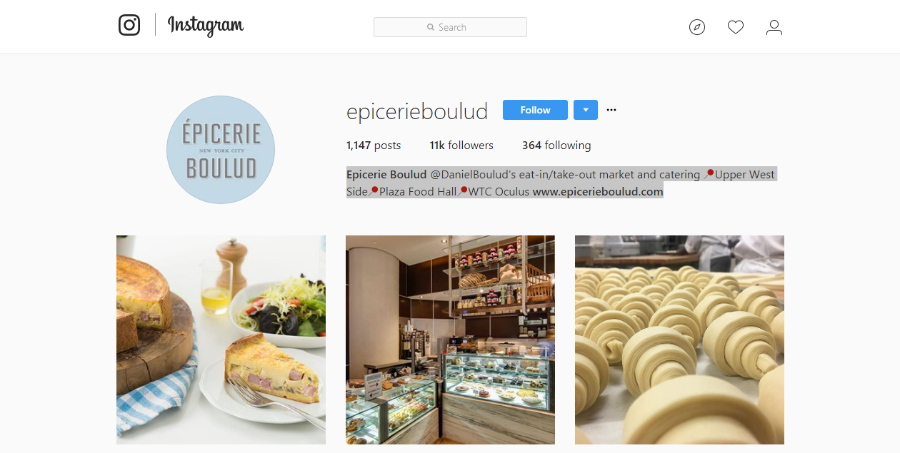 Use keywords and local info in your Instagram profile