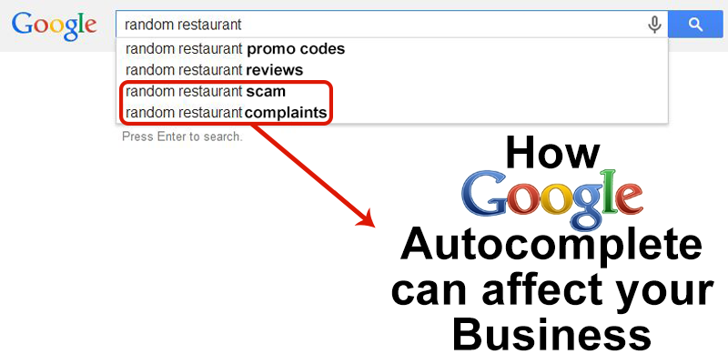 How to Control Google Autocomplete for your Business