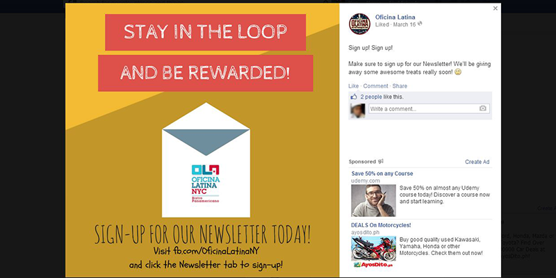 Grow your email list with Facebook join email list contest