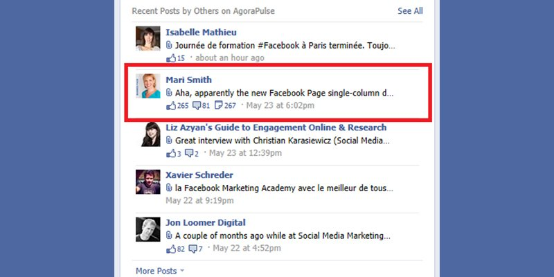 Posts mentioning your page are not as easily visible Facebook Page