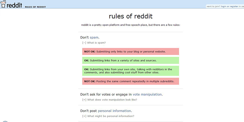Follow the Rules of Reddit
