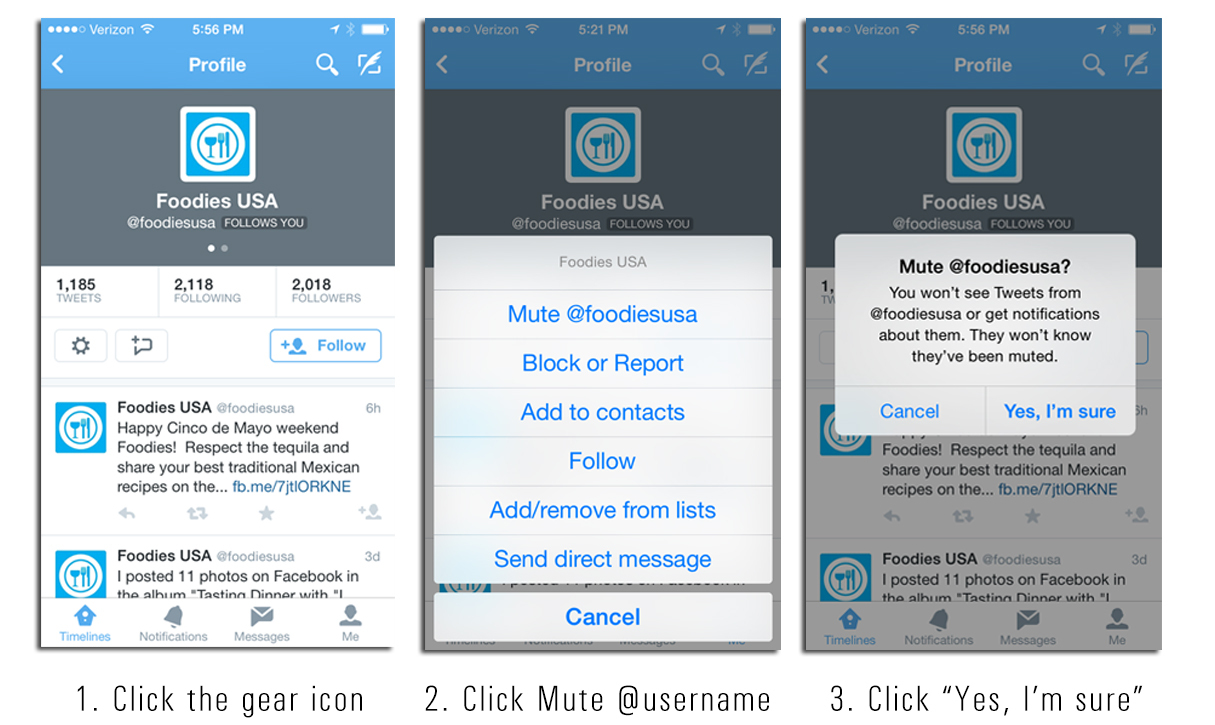 How to use Twitter's Mute Feature