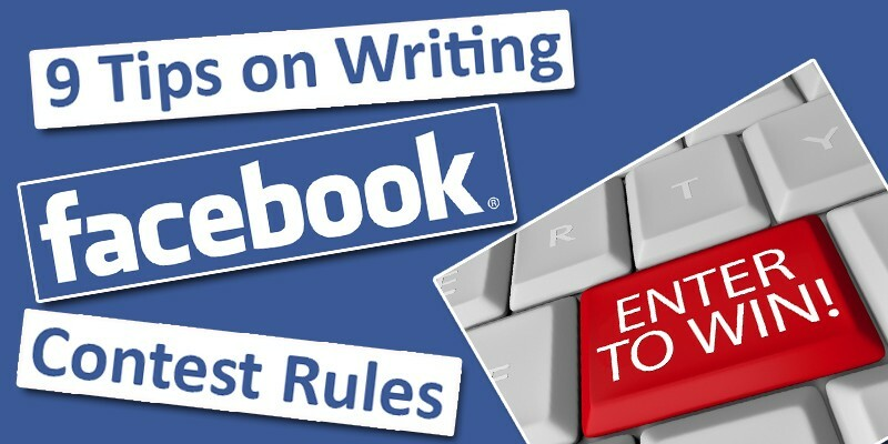 Facebook contest rules tips