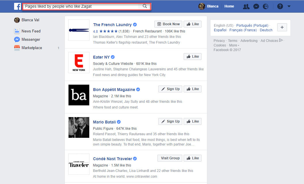 how to best choose pages to watch on Facebook
