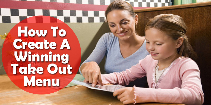 how to create restaurant take out menu