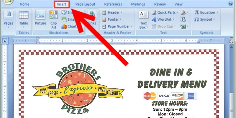 Attractive How To Add Images On Microsoft Word 2007 On How To Make A Food Menu On Microsoft Word