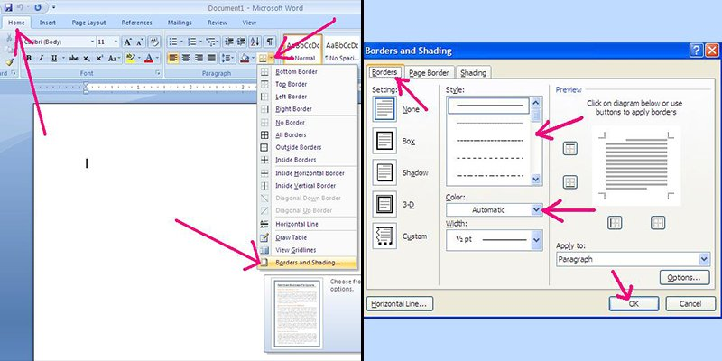 How To Put Borders On Microsoft Word 2007  How To Make A Food Menu On Microsoft Word