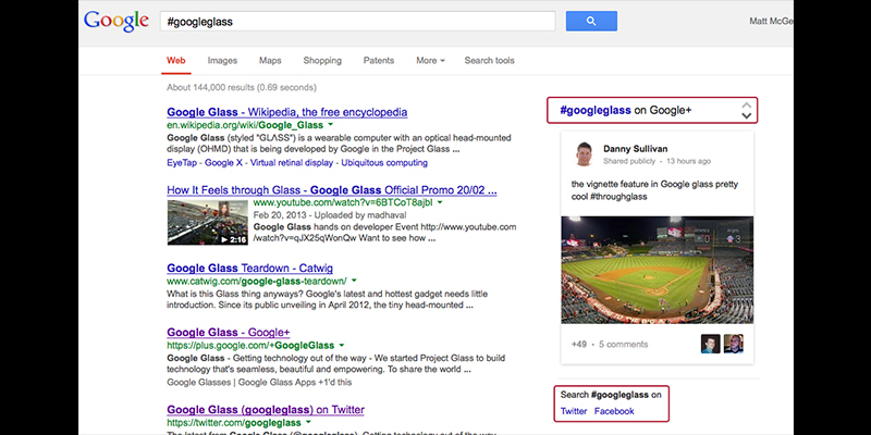 Google Plus posts appear on Google Search Results