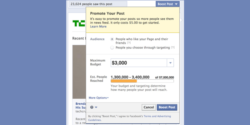 Paying for Facebook Ads Only Way to Beat System