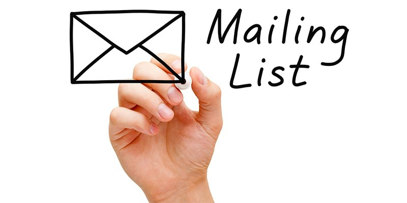 Create and Email List for Facebook