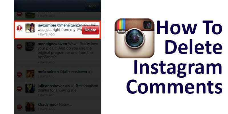 How To Delete Instagram Comments