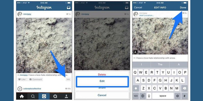 how to delete instagram photos in draft