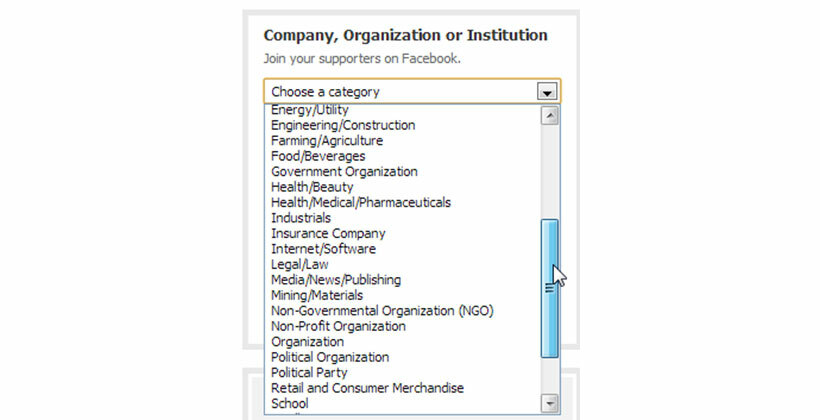 Choose Your Category from the Drop-down Menu and Name Your Page