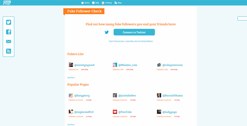 Find out if a brand has fake followers on Fake Follower Check