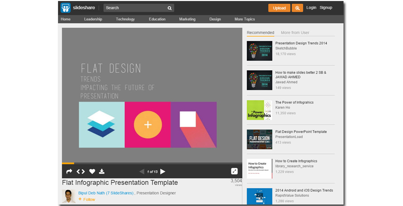 Slideshare is an educational website where you can establish yourself as an expert