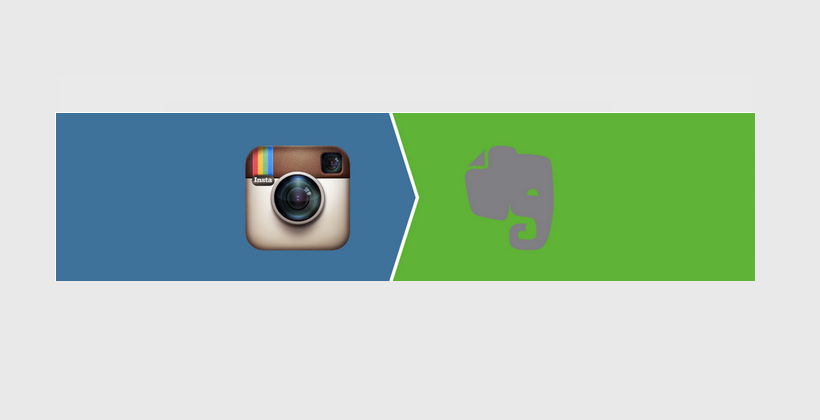 Liked Instagram pictures > Evernote