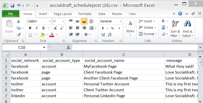 how CSV posting works for scheduling social media posts