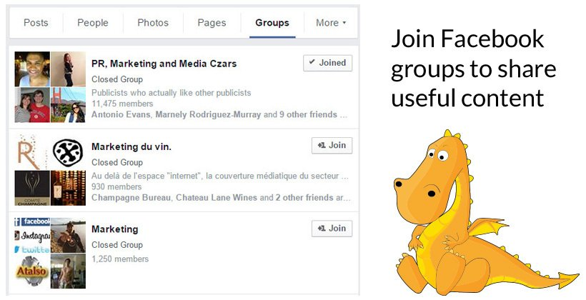 Share useful content to Facebook groups to get more traffic to your blog or website