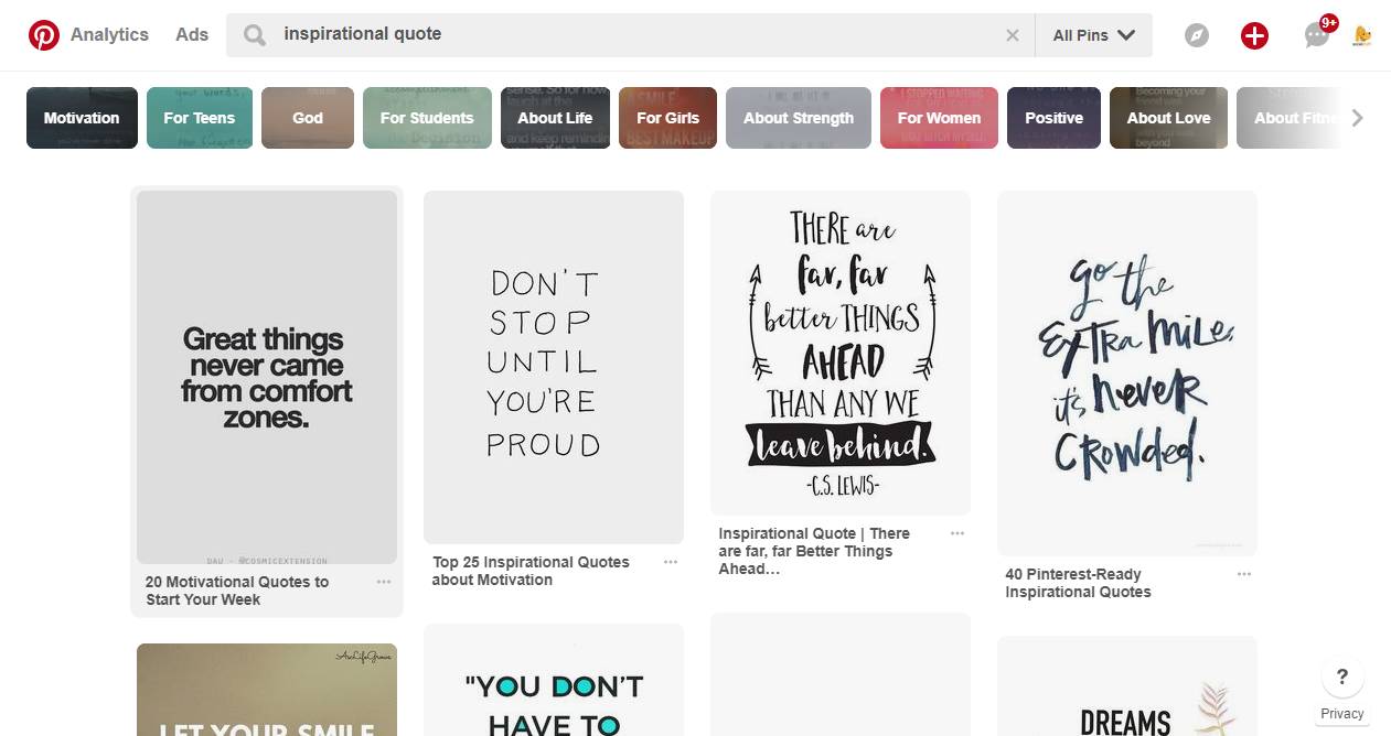 Keep images and text easy to read on Pinterest