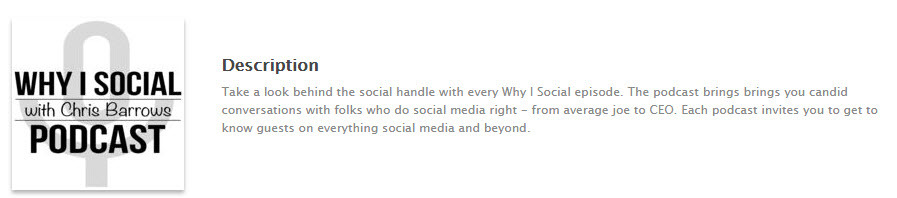 Chris Barrows hosts Why I Social