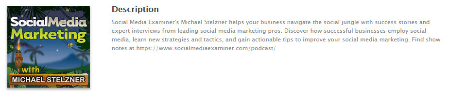 The best social media marketing podcast is by Social Media Examiner