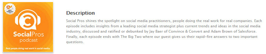 Jay Baer's podcast is good for those looking to do social selling