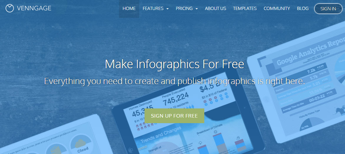 A tool that is cheap for making infographics