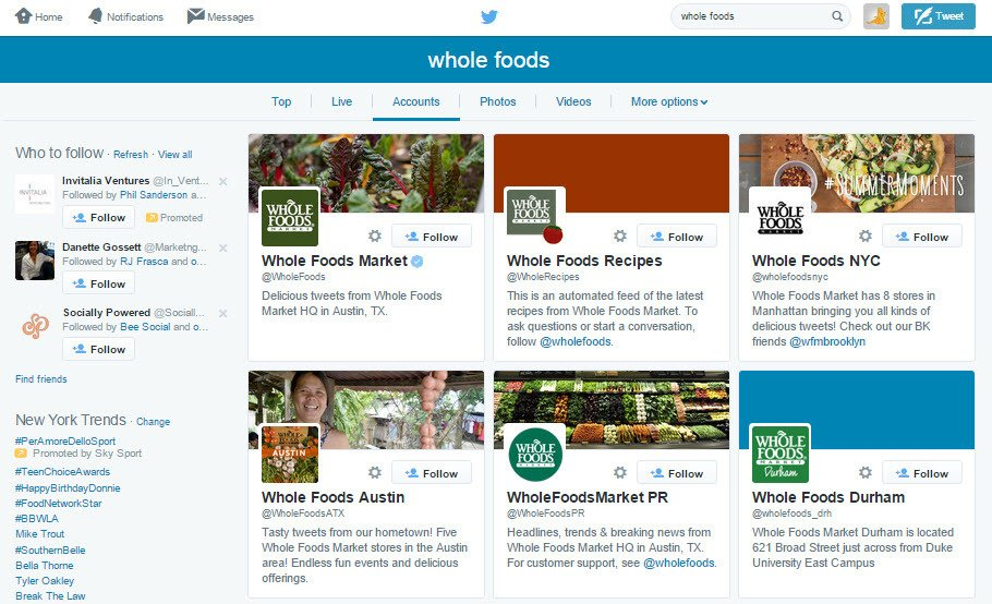 Whole Foods Social Media Manager