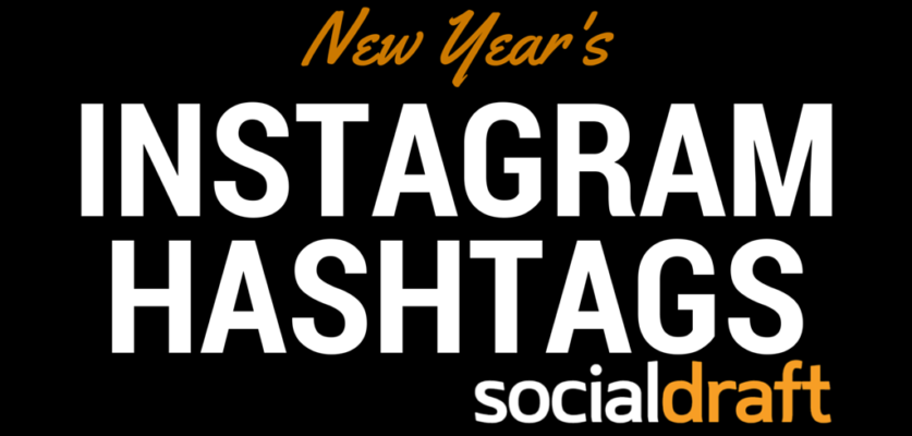 a list of the best hashtags to use when talking about the new year on social