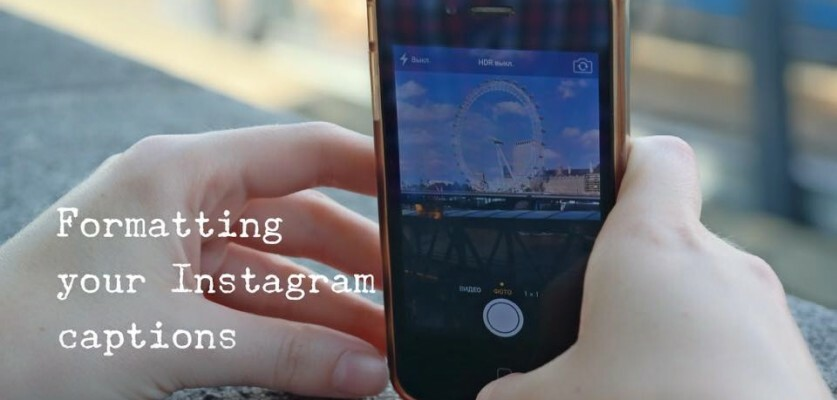 how to add spaces and lines to Instagram captions