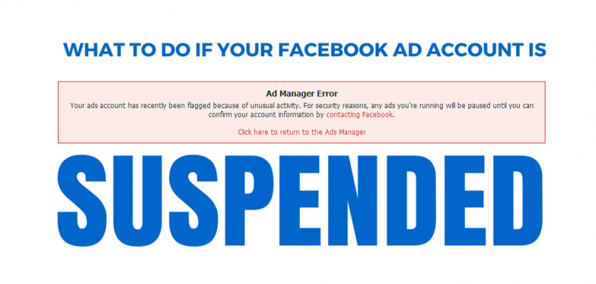 What To Do If Your Facebook Ad Account Is Suspended