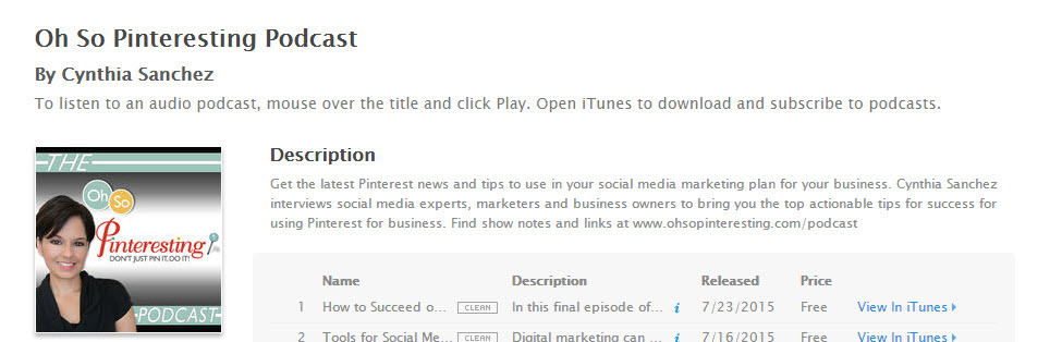 This podcast is all about successful marketing on Pinterest