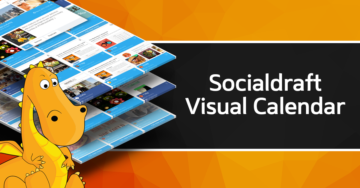 The socialdraft calendar is visual making it very easy to work with