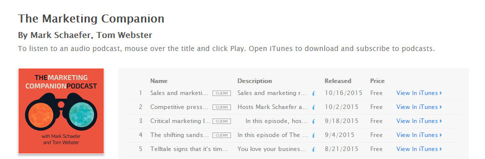 Mark Schaefer's podcast is a marketing essential