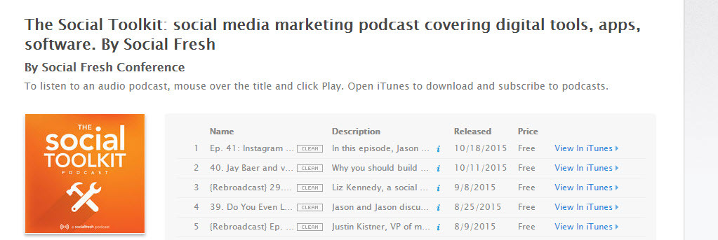 Social media marketers keep abreast of the best tools with the Social Toolkit Podcast