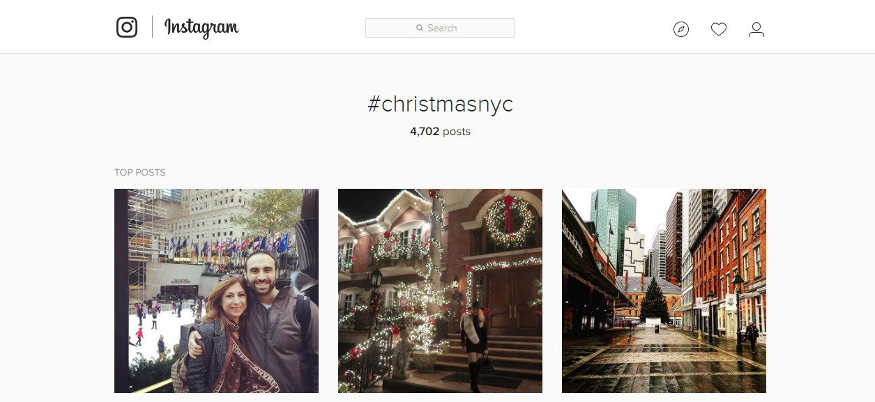 Use Geo targeted hashtags on your Christmas Instagram posts to get local audience views