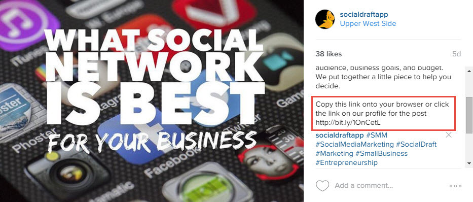 A trick on how to get website traffic using Instagram
