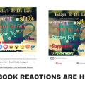 the new feature from facebook, reactions will measure sentiment